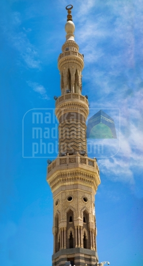 Minaret,Holy Mosque in Madinah.