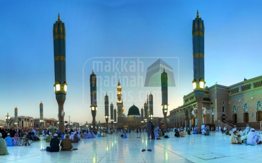 The Holy Prophet's Mosque in Medinah,Saudi Arabia.