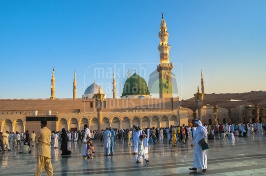 Green Dome of the Masjid Nabawi.