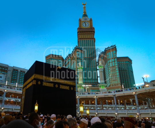 Holy kaaba in Makka a panorama view