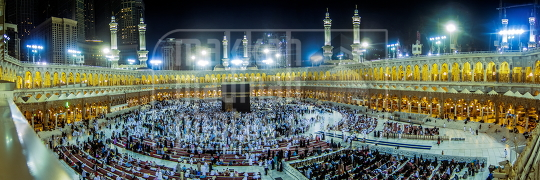 Makkah at night a panorama view