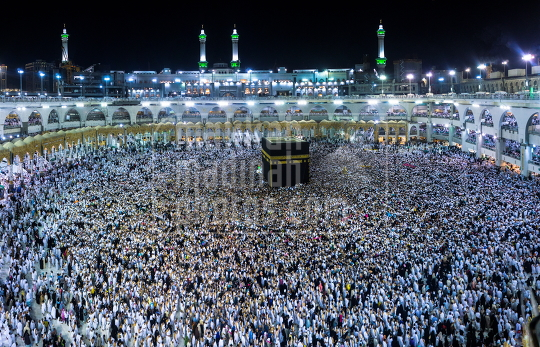 Umrah Pilgrims in Grand Mosque Makkah